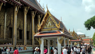 Stock Video Footage of Thailand Bangkok 060 majestically buildings of the royal palace