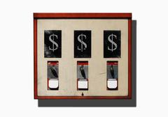 Illustration of dollars signs on a vending machine Stock Illustration