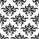 Stock Illustration of modern foliate black and white arabesque pattern
