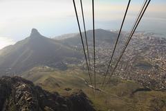 Näytä Kapkaupunki ja Lion Head Mountain köysirata Kuvituskuvat