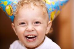 Happy laughing little boy Stock Photos