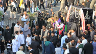 Stock Video Footage of Paying Respect to a Camel in Chehlom Procession