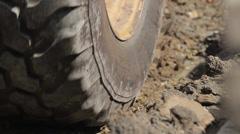 Stock Video Footage of Digger shovels sand, roadworks