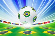 Stock Illustration of soccer background