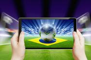Stock Illustration of soccer online, brazil soccer