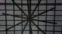 Big Black Dark Ceiling Fan Rotating Spinning Fast Stock Footage