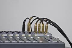 Close-up of sound mixer Stock Photos