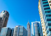 Stock Photo of Modern buildings, Dubai, United Arab Emirates