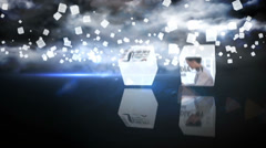 Falling Media Cubes Stock After Effects