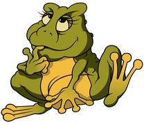 Sitting Frog - stock illustration