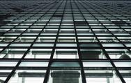 Stock Photo of Full frame, close-up of office building windows