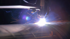 Roboter welder Stock Footage