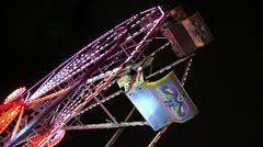 Ferris Wheel Carts Stock Footage