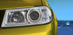 headlight - stock photo