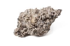 quartz with pyrite - stock photo