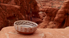 Indian pottery native american archeology 30 Stock Footage