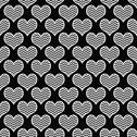 Stock Illustration of black and white chevron hearts pattern repeat background