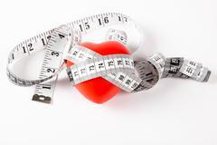 Measuring heart Stock Photos