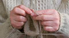 knitting - stock footage