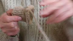 Knitting Stock Footage