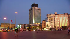 Tall building near station on Taksim Square  in Istanbul, Turkey. Stock Footage