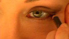 Eyes Make-up Stock Footage