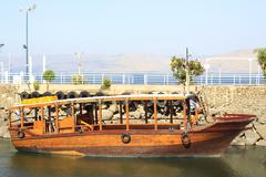 ancient boat - stock photo
