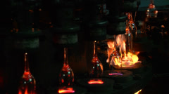 Inside of glass factory. Stock Footage