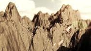 Mountain range aerial shot Stock Footage