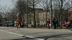 Boston Marathon Runner Female 2013 Stock Footage