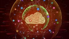 Global cloud computing concept Stock Footage