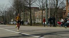 Female Runner 2013 Boston Marathon Stock Footage