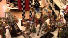 Colorful Barcelona Artwork - stock footage