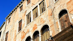 Exterior of Venice apartment building Stock Footage