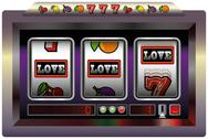 Stock Illustration of Slot Machine Love