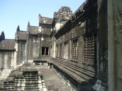 Angkor Wat Inner Closure - stock photo