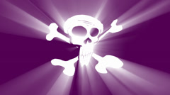 Pirate flag animation with volumetric light effect Stock Footage