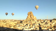 Stock Video Footage of Hot air balloons in Cappadocia, Turkey.