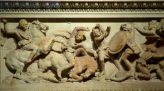 ISTANBUL - CIRCA 2013: Istanbul Archaeology Museum - Alexander Sarcophagus Stock Footage