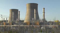 Towers of an energy station Stock Footage