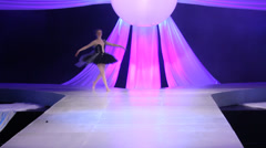 Ballet and tutu in a fashion show Stock Footage