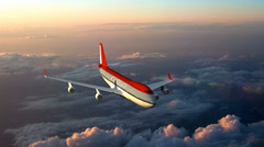 Airplane above the clouds Stock Footage