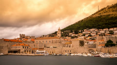 Dubrovnik dark clouds time lapse Stock Footage