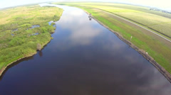 River at Lake Okeechobee Stock Footage