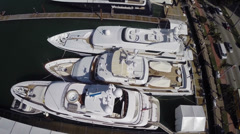Yachts of the rich and famous Stock Footage