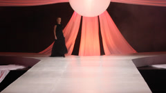 Fashion show cat walk Stock Footage
