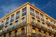 Stock Photo of buildings with lace fronts of city Valencia  Spain