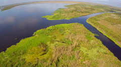 Aerial footage of the Everglades Florida Stock Footage