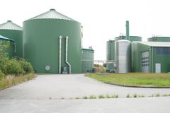 Biogas plant for energy Stock Photos