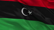 Stock Video Footage of Flag of Libya - seamless loop